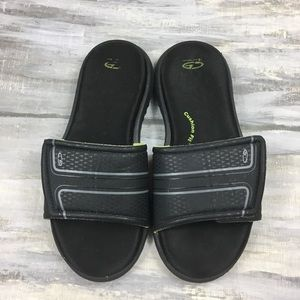 Champion C9 Cushion Fit Slides Sandals Black Lime